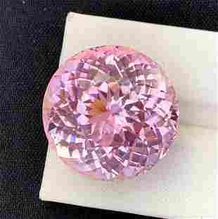 Natural Pink Kunzite Gemstone, Round Cut, Top Quality,
