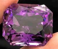 60 Carats Natural Fancy Cut Top Purple Amethyst ~