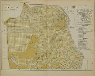 1892 Johnson Map of San Francisco -- San Francisco