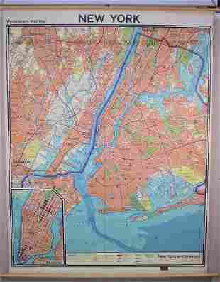 Westermann Wall Map New York