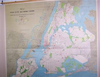 Map of The City of New York Compiled in the Department