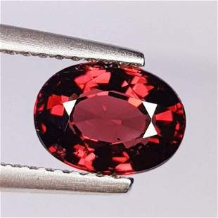 Natural Rhodolite Garnet Oval Cut 1.72 ct