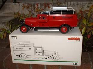 "Marklin ""Reichpost"" postal truck 1989, with rare credit"
