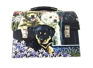 Puppy Love Dog Lunch Box by Pam Renfroe