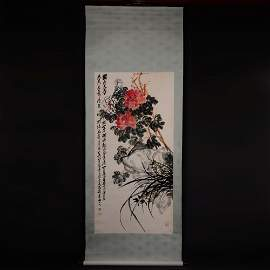 Chinese Handmade scroll painting-Wu Changshuo
