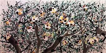 Chinese Picture Scroll (Mirror Frame)-Wu Guanzhong