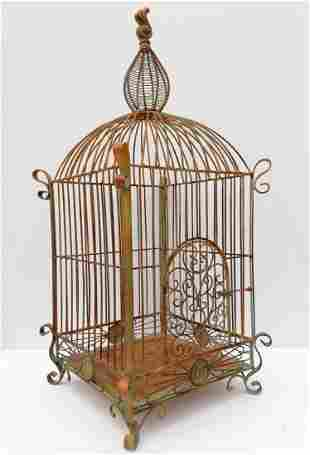 Very large decorative bird cage - forged iron