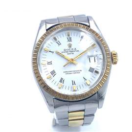 Rolex Oyster Perpetual Date Two Tone Watch