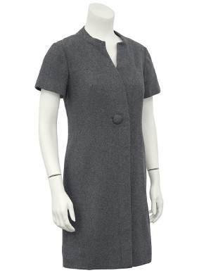 Christian Dior Grey Wool Dress