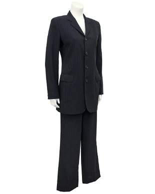 Jean Paul Gaultier Grey Pinstrip Pantsuit