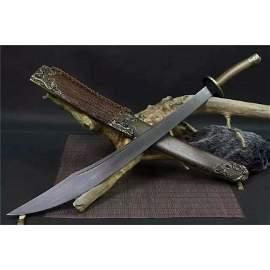 Exclusive pattern damascus steel sword survival hard