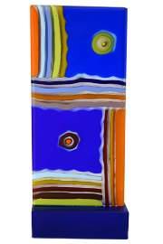 "Alfier GlasStudio - Abstract sculpture "" Totem "" signed"