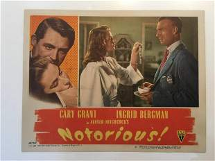 Notorious - Cary Grant (1946) US Lobby Card #3