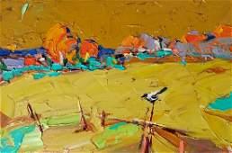 Oil painting Autumn field Kalenyuk Alex