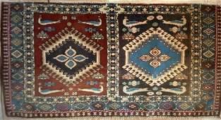1930's Antique Kazak Heriz, 1.8 x 3.4