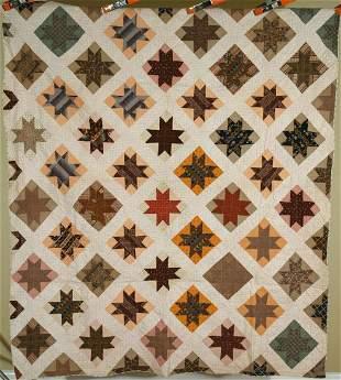 1870's Stars Quilt, Early Fabrics