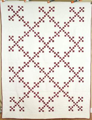 Well Quilted 30's Double Nine Patch Quilt