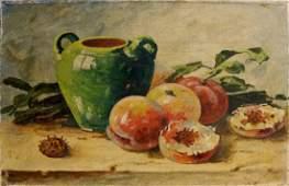 Oil painting Peaches Mynka Alexander Fedorovich