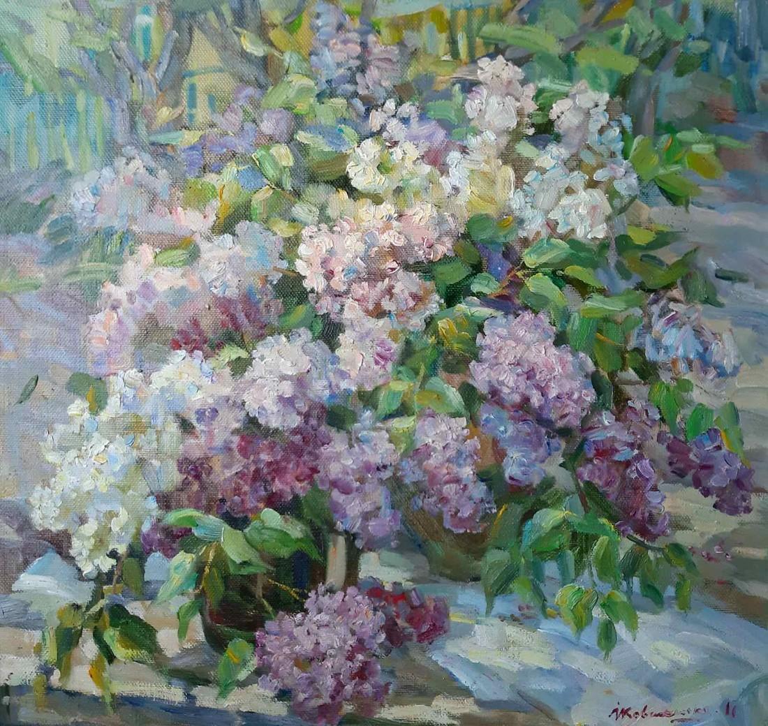 Oil painting Lilac Kovalenko Ivan Mikhailovich