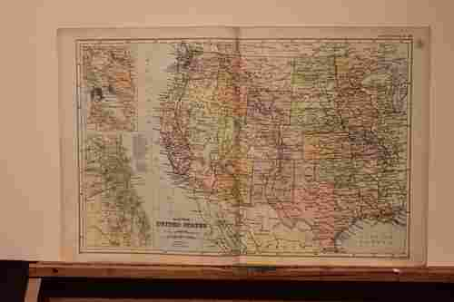 1892 Map of the Western States of the US
