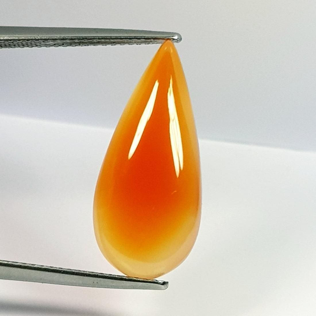 9.67 Ct Natural Orange Agate Pear Cut