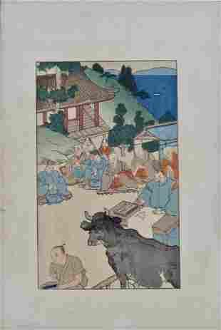 Hiromitsu: Monks with Bull