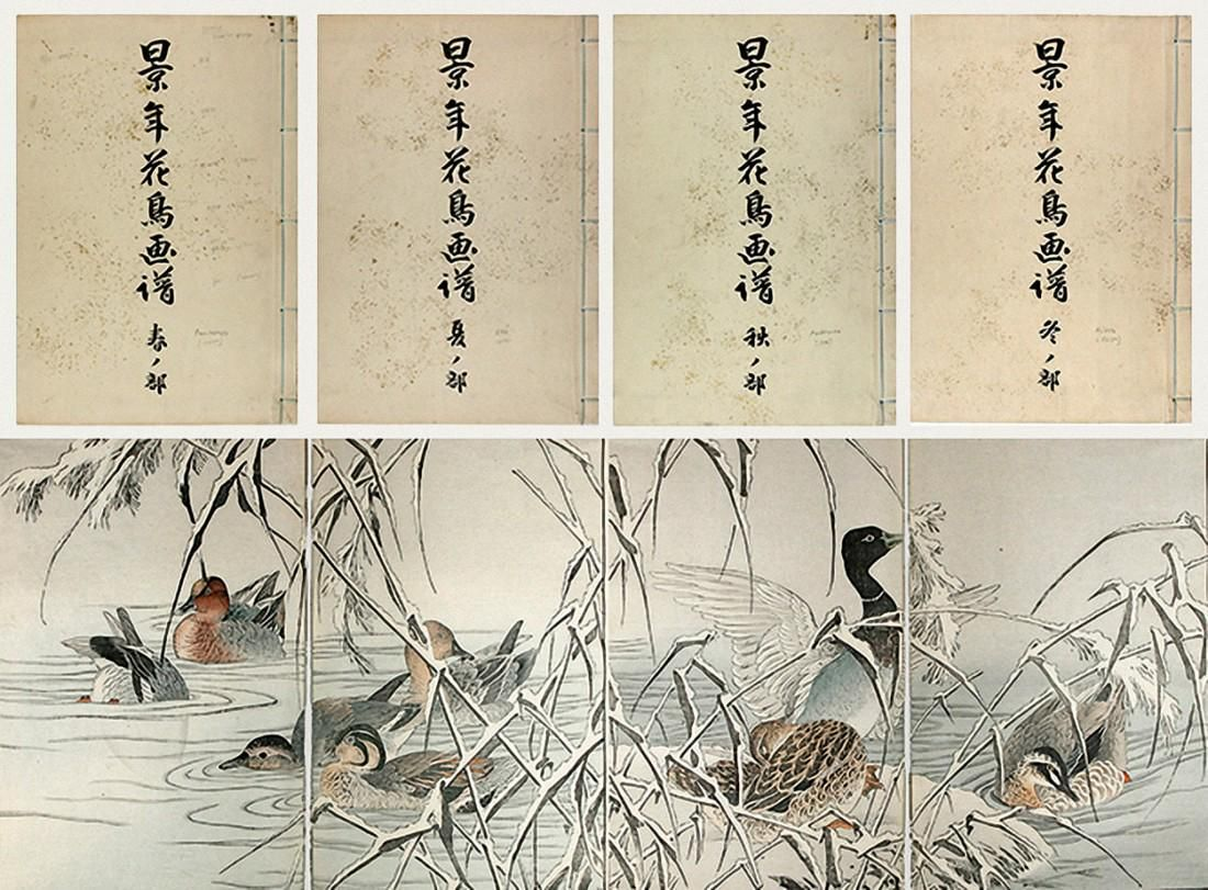 A Book of Drawings of Flowers and Birds by Keinen