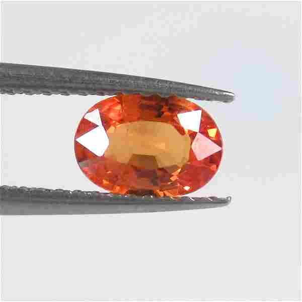 0.91 Ct Natural Ceylon Orange Sapphire Oval Cut