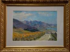 Oil painting Mountain landscape Babentsov Victor