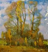 Oil painting Autumn trees Minka Alexander Fedorovich