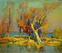 Oil painting Gold autumn Minka Alexander Fedorovich