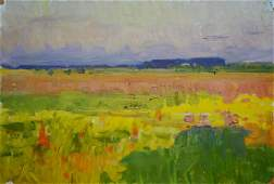 Oil painting Field landscape Koshtelyanchuk Leonty