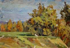 Oil painting Forest landscape Turovsky Mikhail