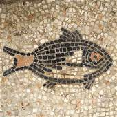 Roman Mosaic with Fish