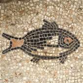 Roman Mosaic with Fish