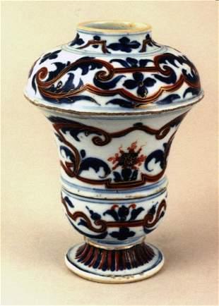 A rare Chinese imari vase, Kangxi following a European