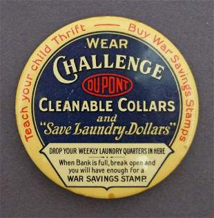 World War I Savings Stamps Celluloid Dime Bank