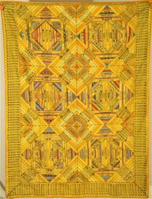 Unusual 1910's Cigar Silk Band Premium Quilt