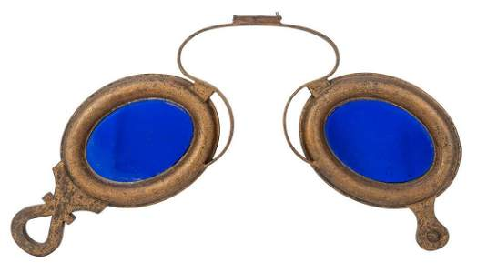 THESE GLASSES ARE MADE OF COPPER WITH AN IRON HANGER