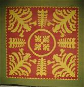 SCHERENSCHNITTE MUSEUM PIECE ANTIQUE MENNONITE QUILT