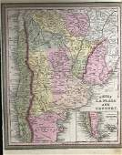 Chile, Argentina & Uruguay. 1750 by Thomas