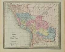 1850 Mitchell Map of Peru and Bolivia -- Peru and