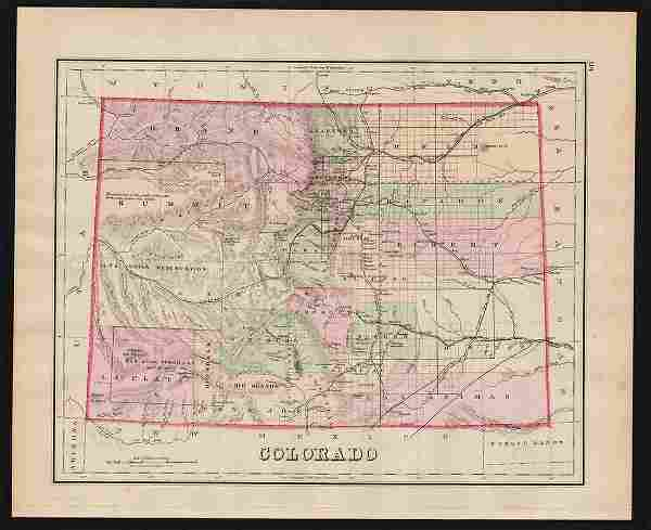 75 h/c map of Colorado by O. W. Gray