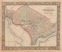 Civil War-era map of Washington, DC by Mitchell