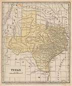 Scarce 1853 Texas map by Roswell Smith