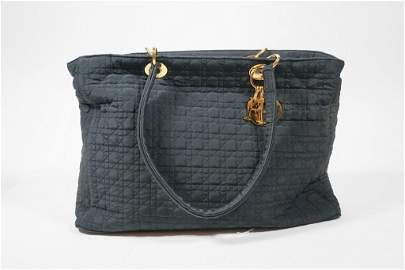 Lady Dior Charm Black Canvas