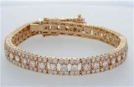 14 kt. Pink gold - Bracelet - 5.50 ct Diamond -