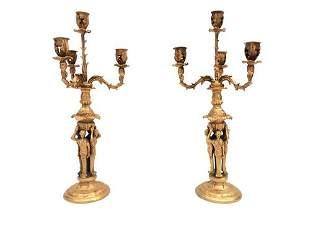 Candelabra - 2 - Bronze - Gilt bronze
