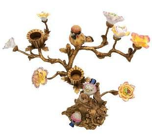 Beautiful Bohemian candlestick - candleholder - Bronze