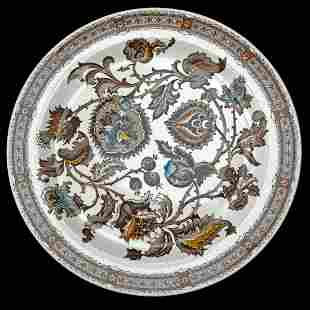 Aesthetic Movement Plate Jacobean Pattern 19th C